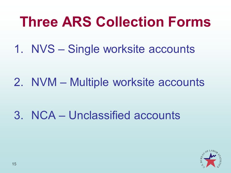 Three ARS Collection Forms