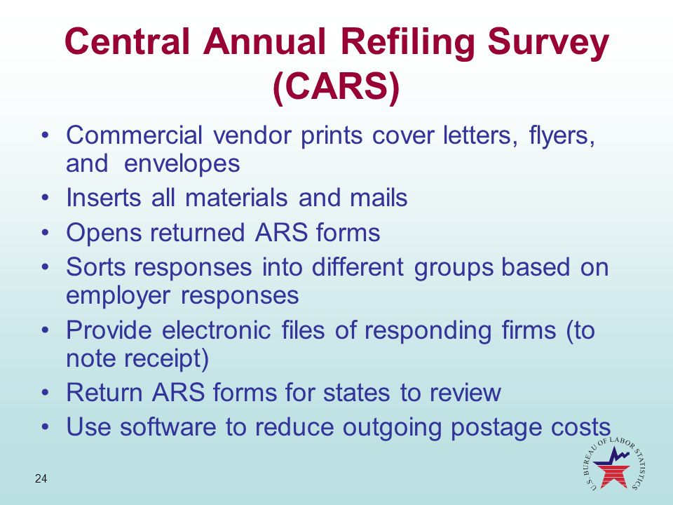 Central Annual Refiling Survey (CARS)
