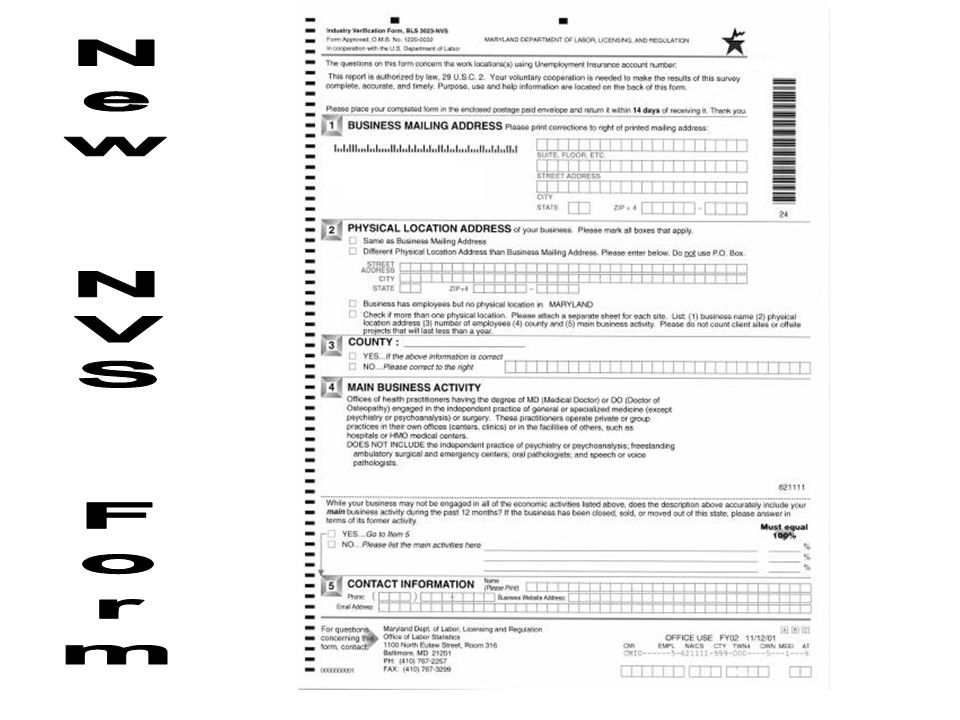 New NVS Form
