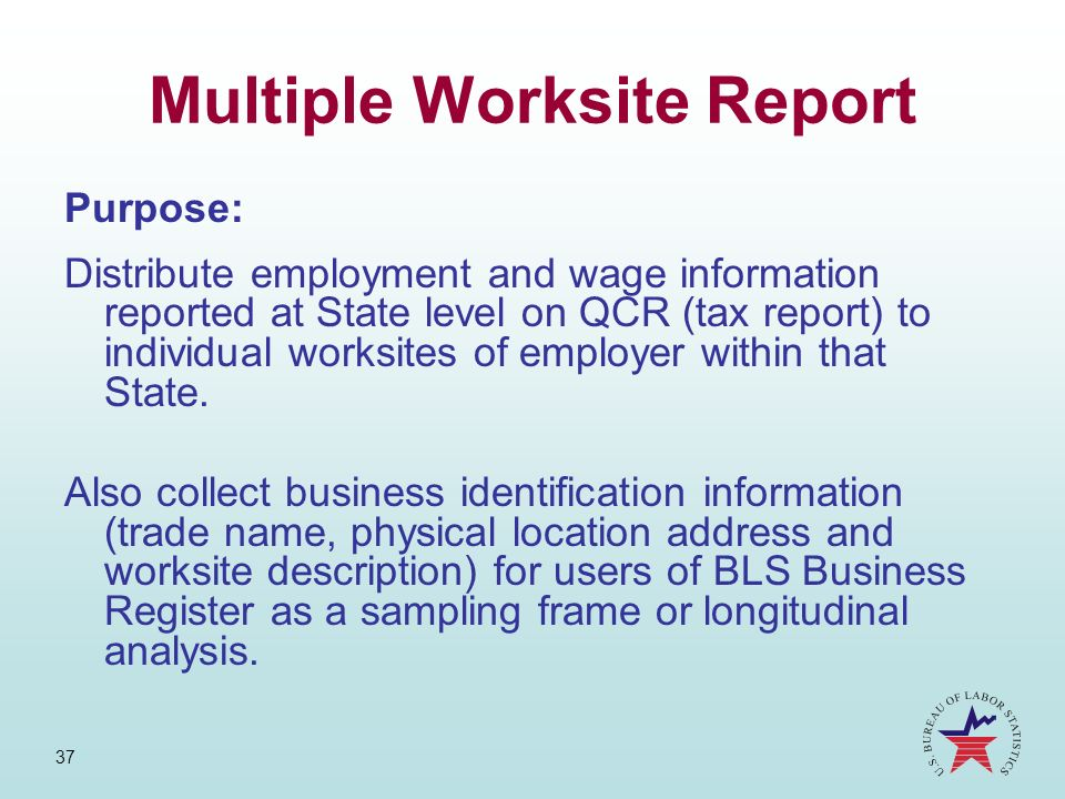 Multiple Worksite Report