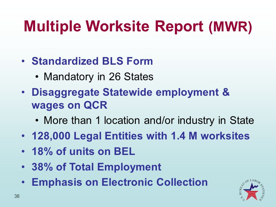 Multiple Worksite Report (MWR)