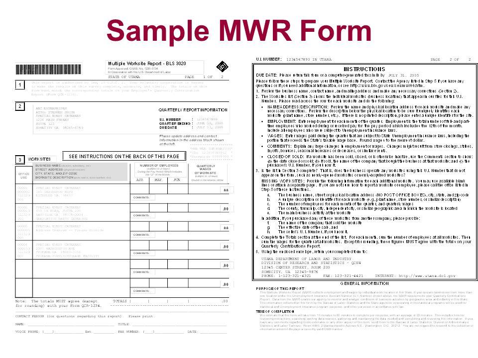 Sample MWR Form