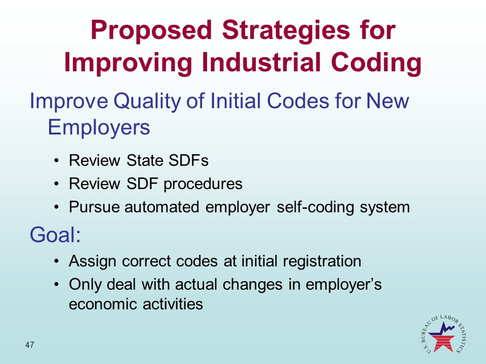 Proposed Strategies for Improving Industrial Coding