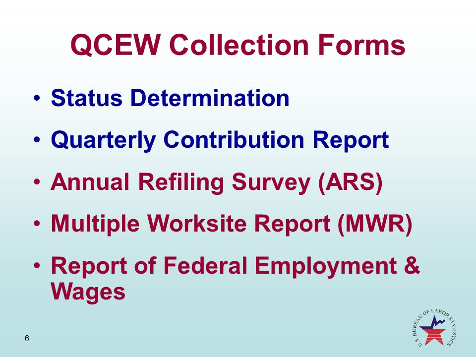 QCEW Collection Forms Status Determination