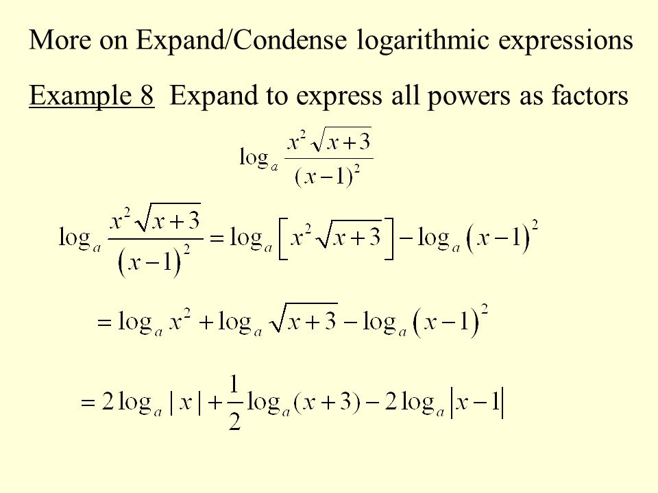how to read logarithmic expression