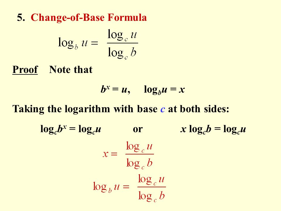 Question: Use the change of base formula and the properties of logarithms  to rewrite the following expressi.