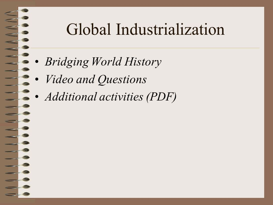 industrial revolution turning point world history Get an answer for 'the industrial revolution was a turning point in american  history what were the positive and negative effects of the revolution on society.