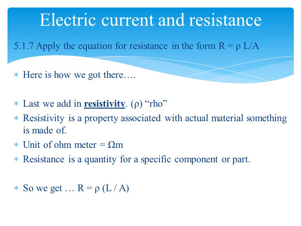 electric current and resistance Electric current, current density, resistivity and resistance a battery causes  electric current to flow through a circuit the same may be said of a solar cell, or a.