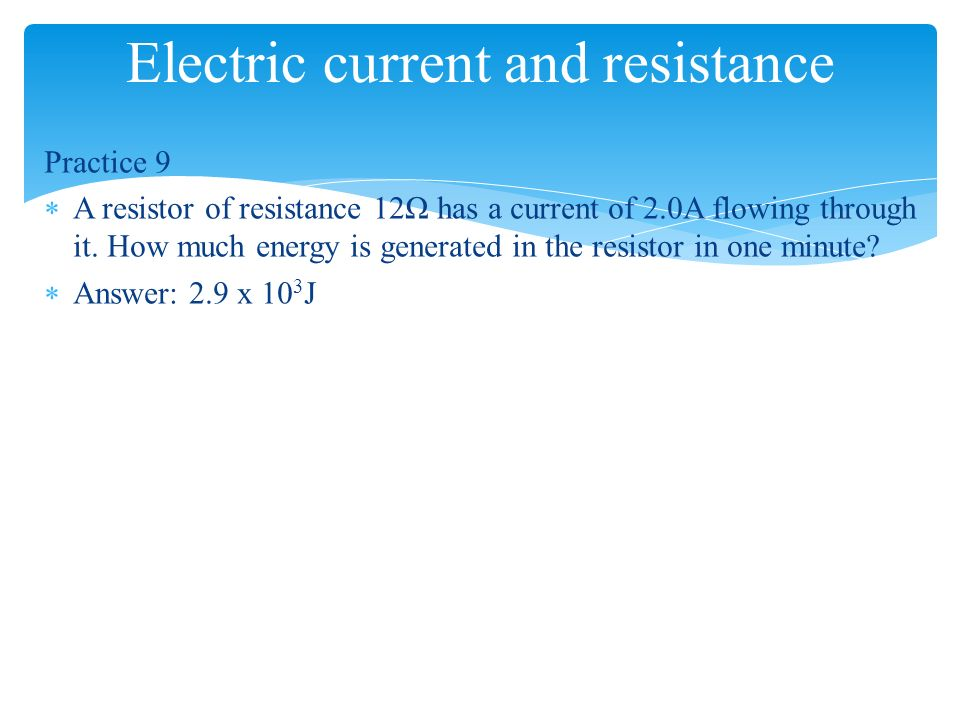electric current in resistor - 28 images - electric power ...