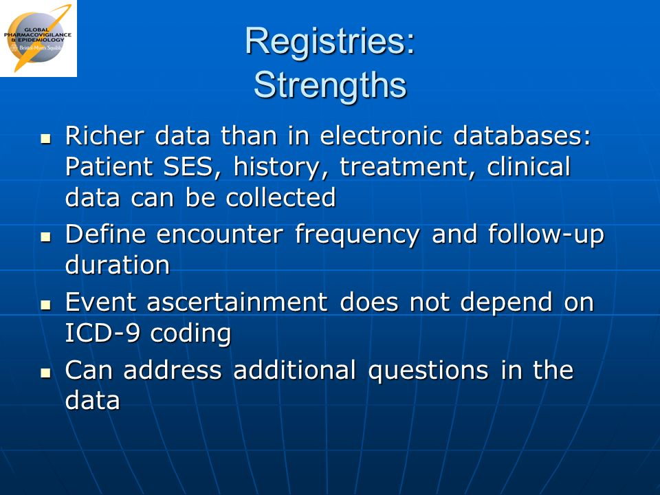 Registries: Strengths