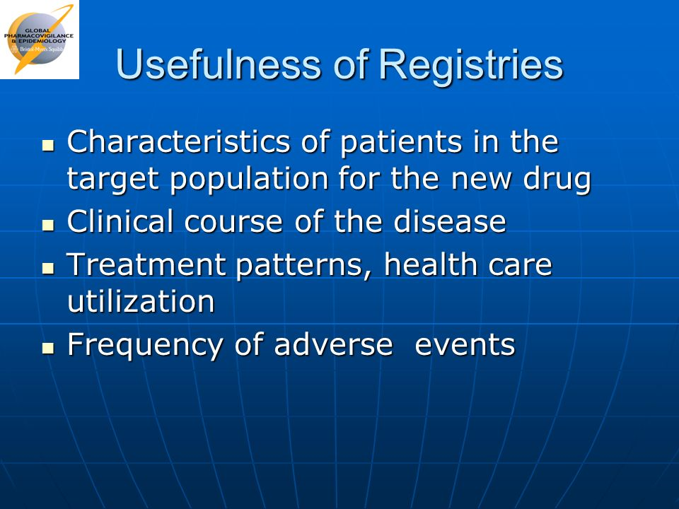 Usefulness of Registries