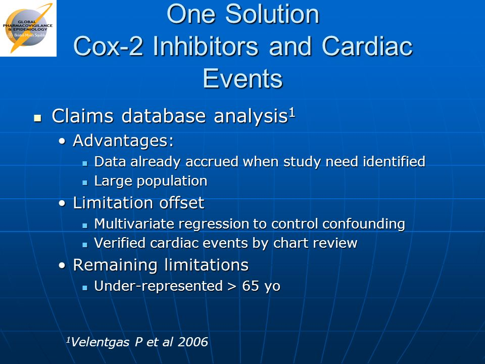 One Solution Cox-2 Inhibitors and Cardiac Events