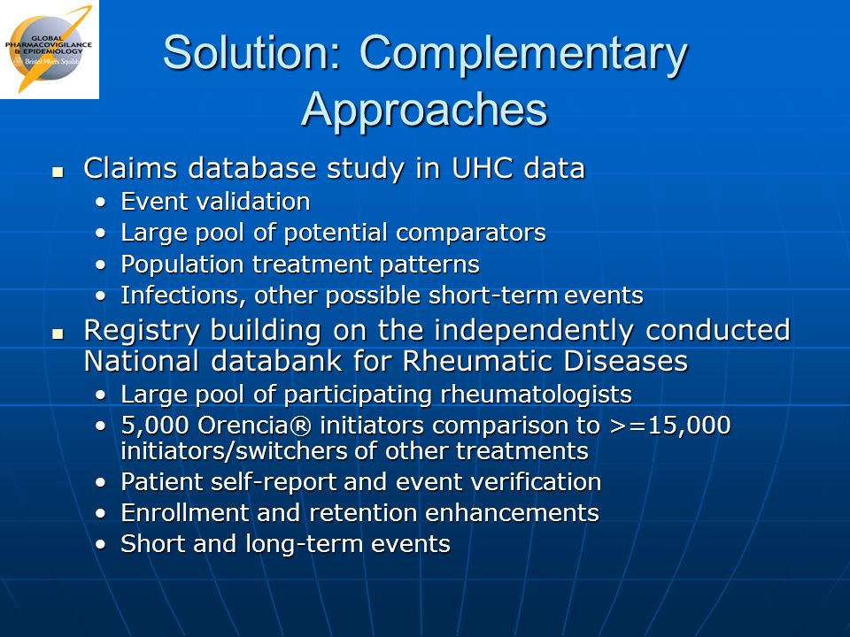 Solution: Complementary Approaches