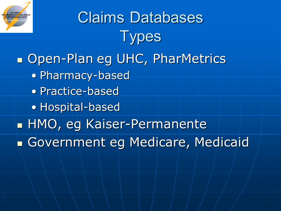 Claims Databases Types