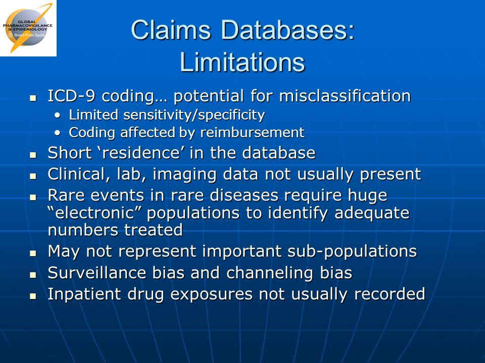Claims Databases: Limitations