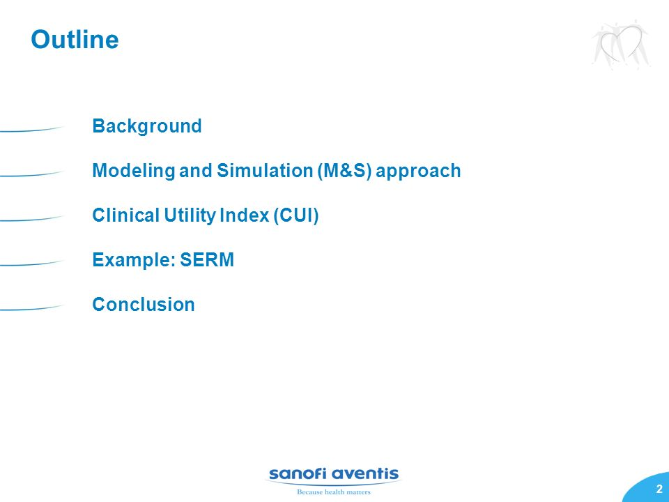 Outline Background Modeling and Simulation (M&S) approach