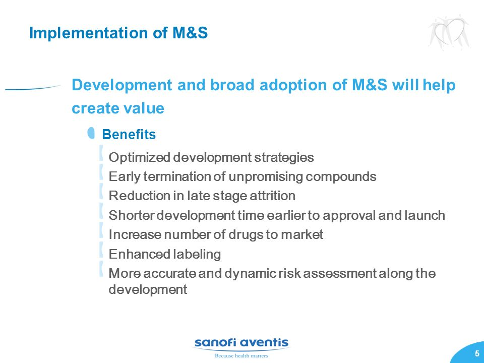 Development and broad adoption of M&S will help create value