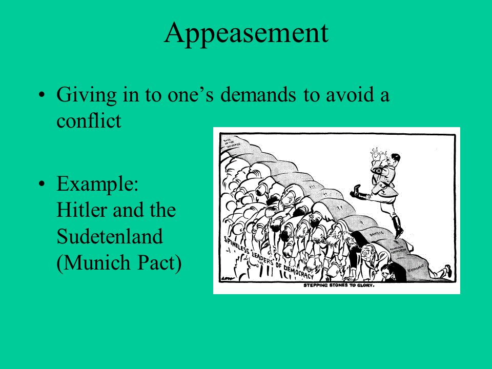 an analysis of the munich pact and the appeasement of hitler It is true that kristol is often reminded of churchill and munich these days  of  appeasing adolf hitler, culminating in the munich conference of.