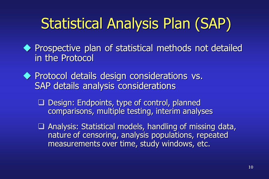 Statistical Analysis Plan (SAP)