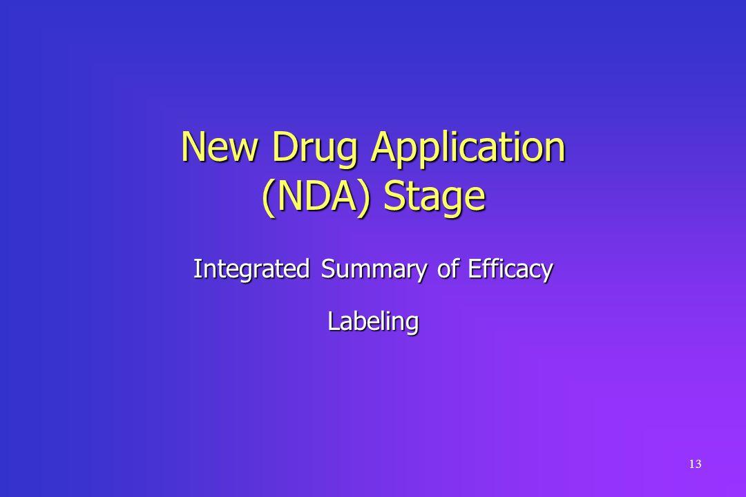 New Drug Application (NDA) Stage