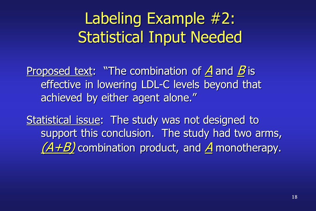 Labeling Example #2: Statistical Input Needed