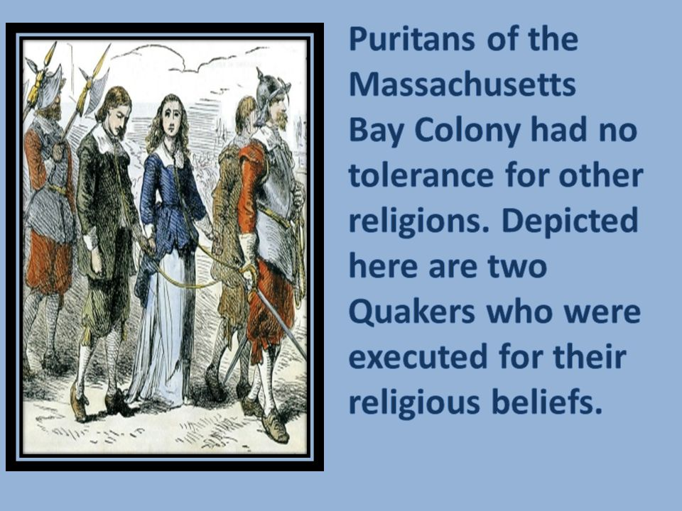 Puritans of the Massachusetts