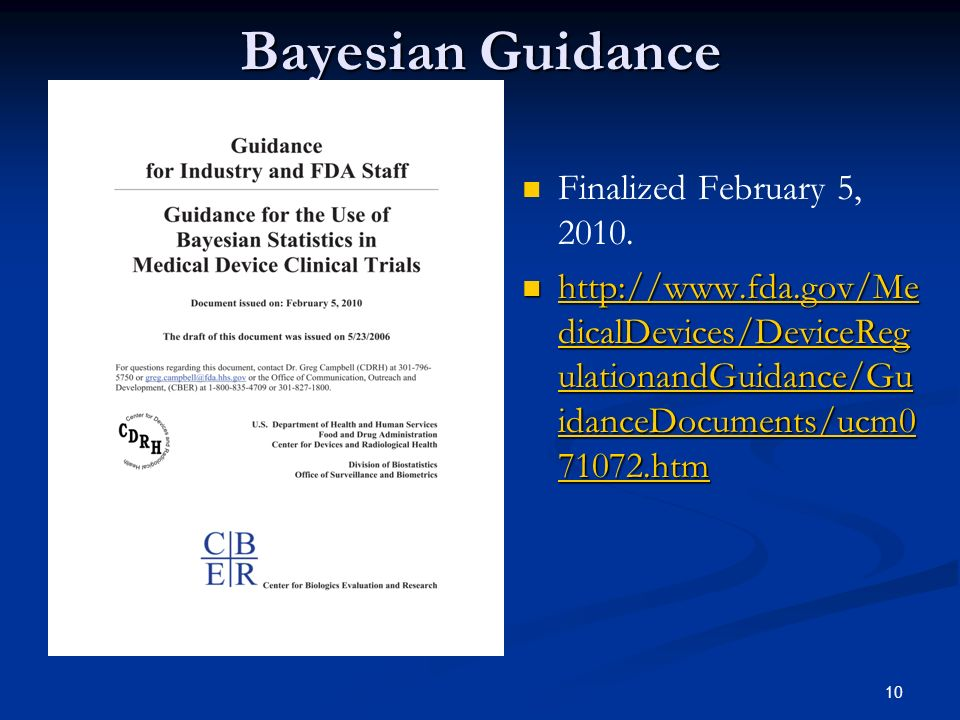 Bayesian Guidance Finalized February 5, 2010.