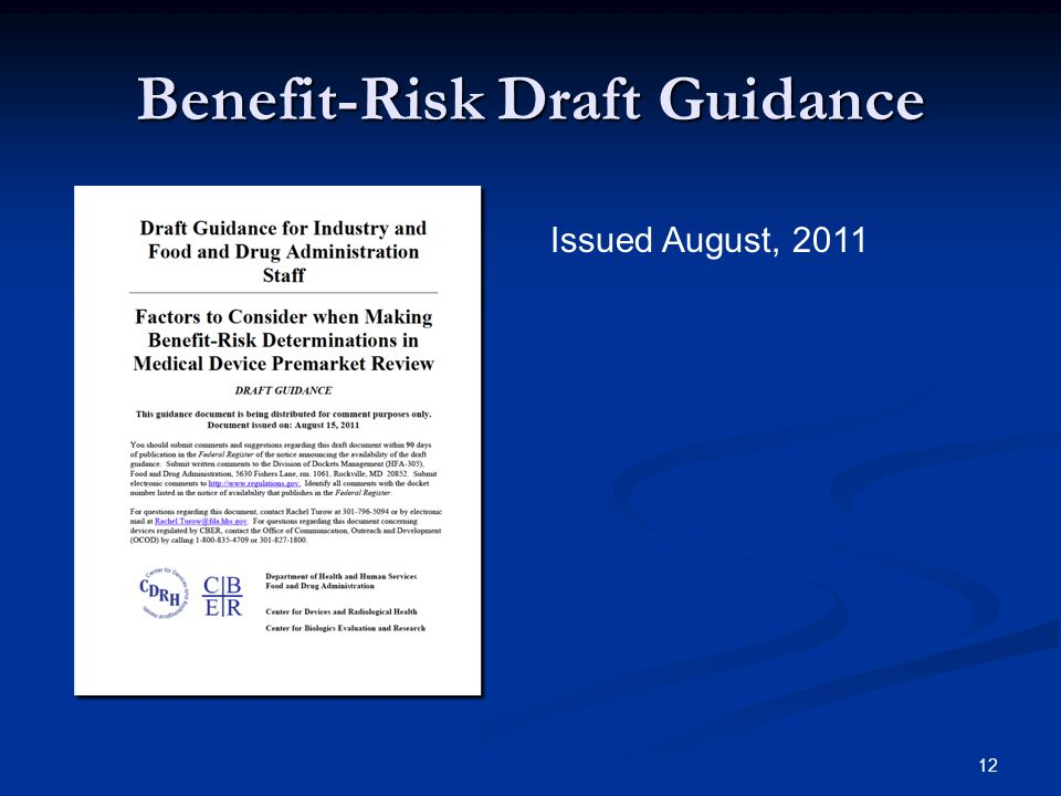 Benefit-Risk Draft Guidance