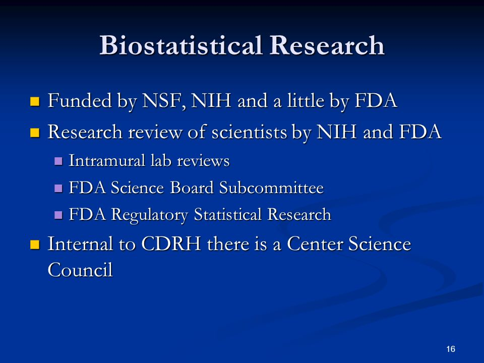 Biostatistical Research