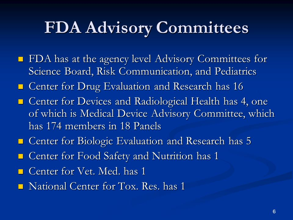 FDA Advisory Committees