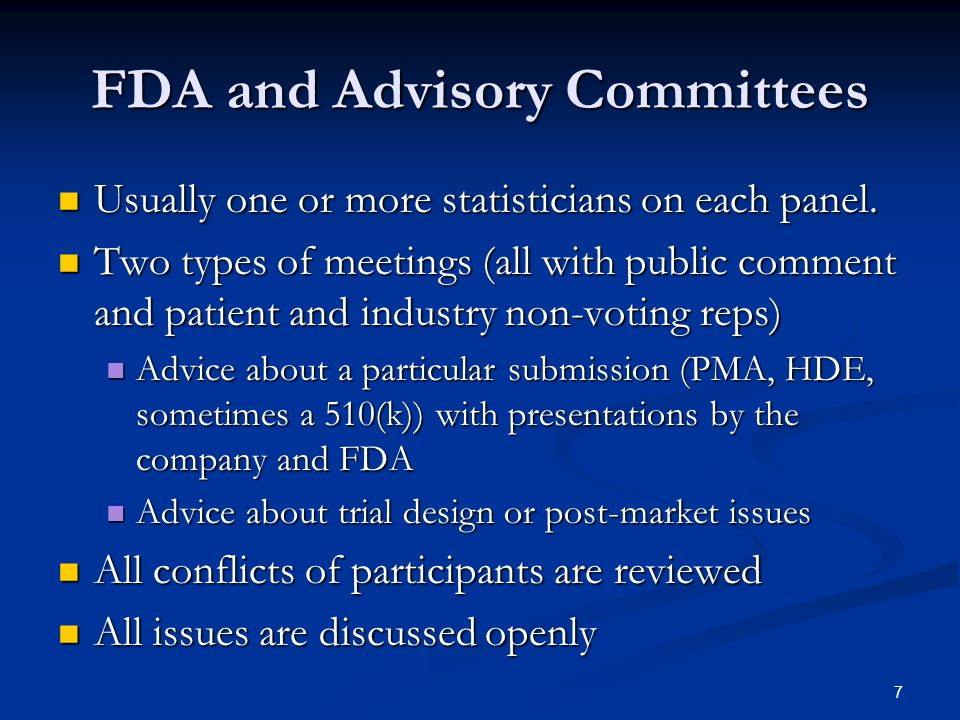 FDA and Advisory Committees