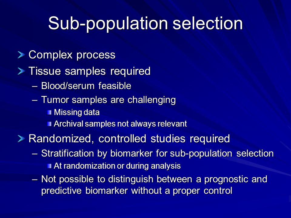 Sub-population selection