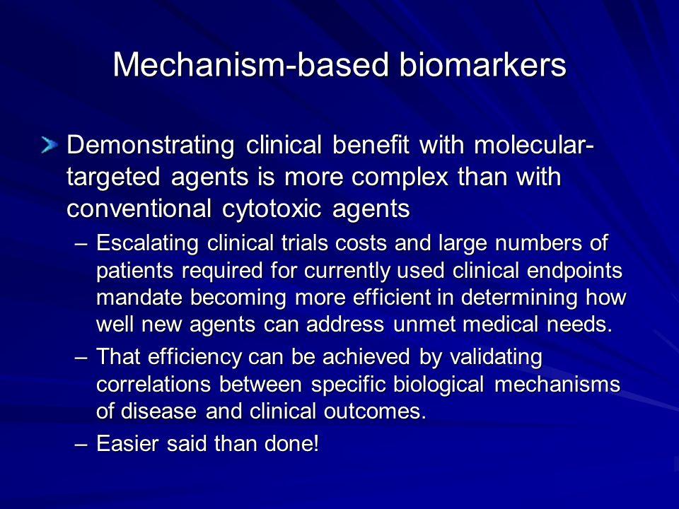 Mechanism-based biomarkers