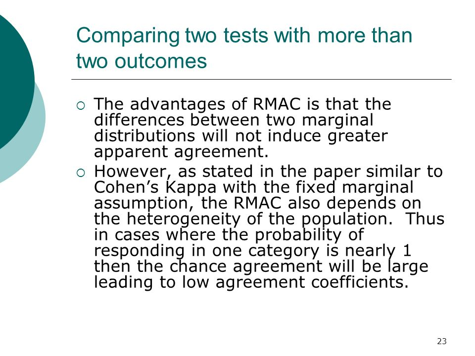Comparing two tests with more than two outcomes