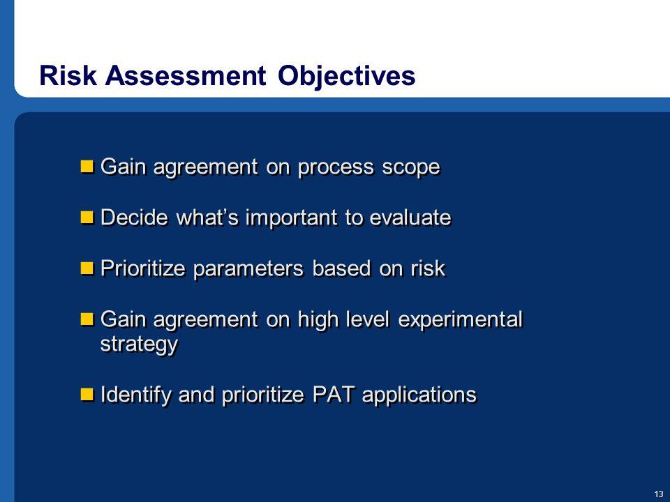 Risk Assessment Objectives