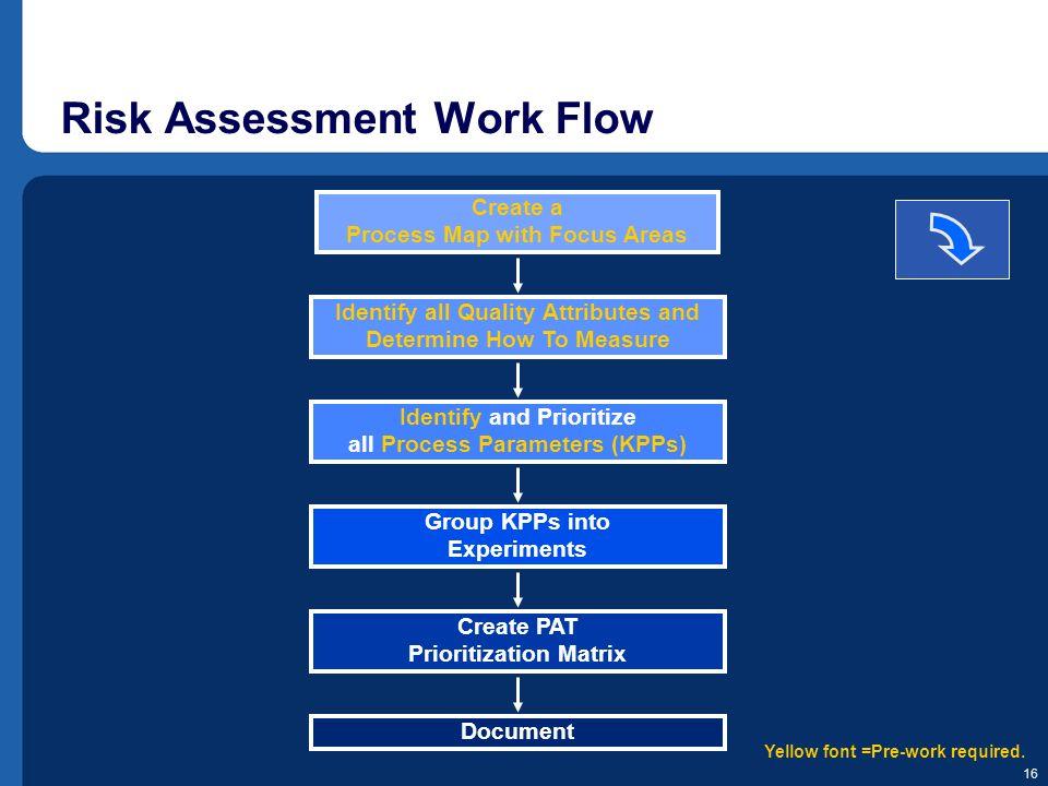 Risk Assessment Work Flow