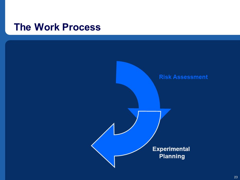 The Work Process Experimental Planning Risk Assessment