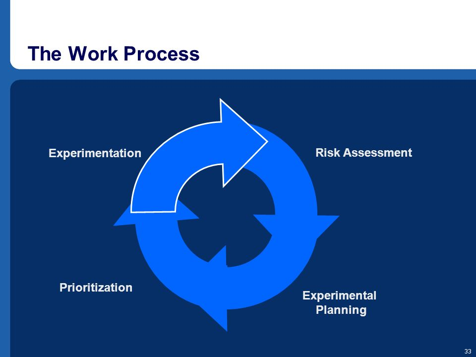 The Work Process Experimentation Risk Assessment Prioritization