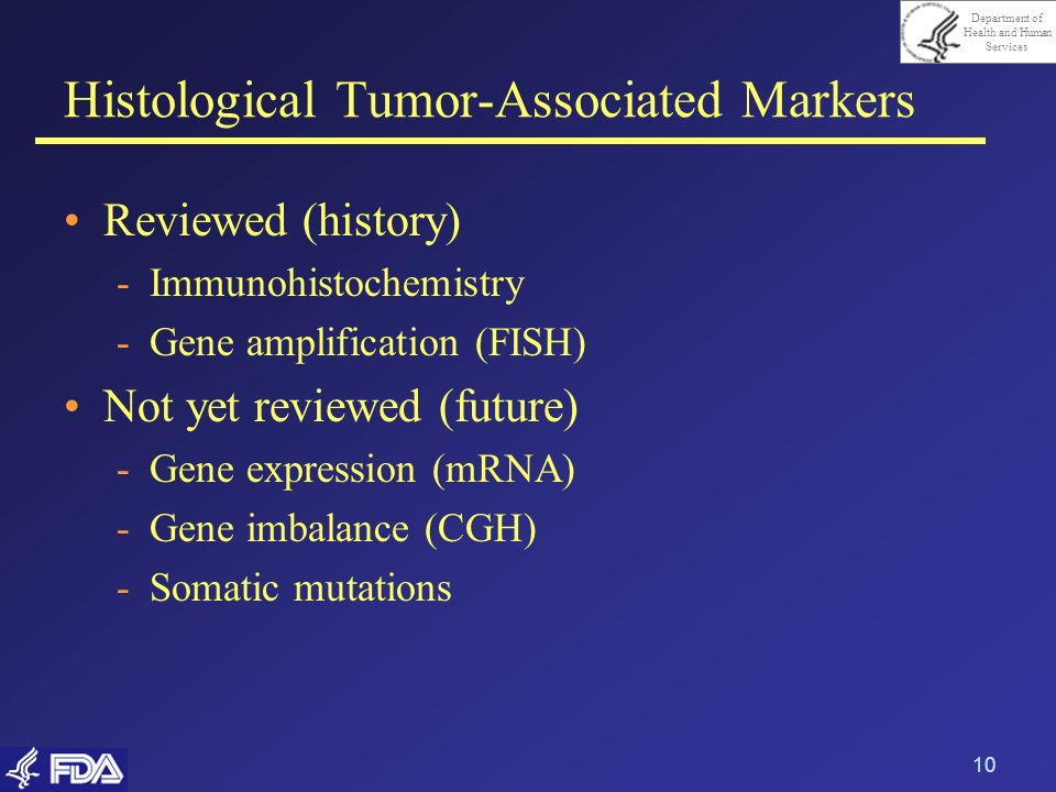 Histological Tumor-Associated Markers