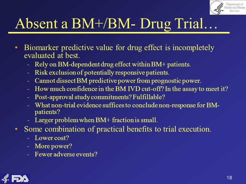 Absent a BM+/BM- Drug Trial…