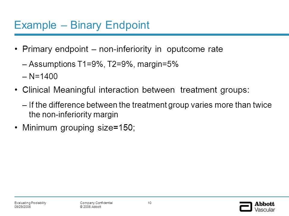 Example – Binary Endpoint