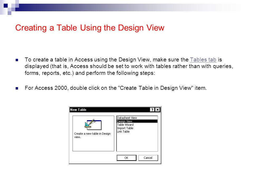 Lecture note 9 introduction to the ms access ppt download for Table design view access