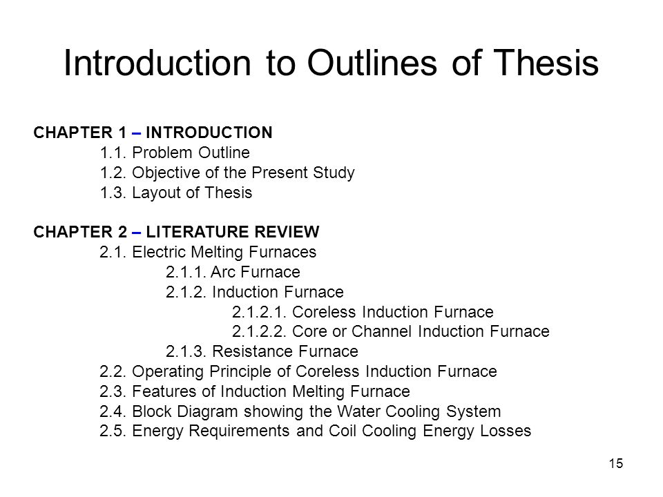 thesis writing chapter 1 Chapter 1 introduction the thesis, as a requirement in a student's graduate education at southern methodist university, serves the primary purpose of training the student in the processes of scholarly inquiry and writing under the direction.