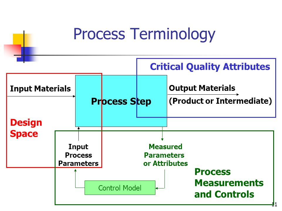 Process Terminology Critical Quality Attributes Process Step