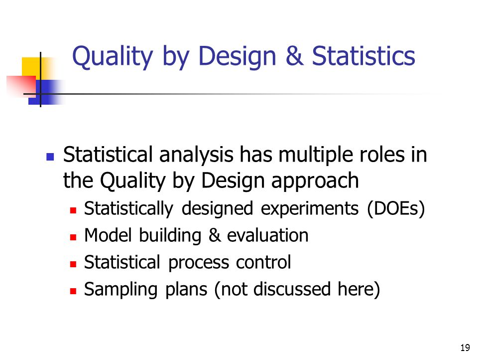 Quality by Design & Statistics