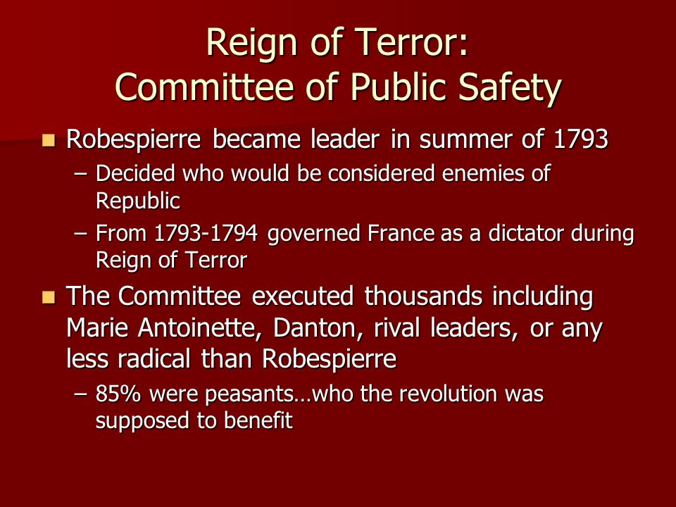 Robespierre committee of public safety