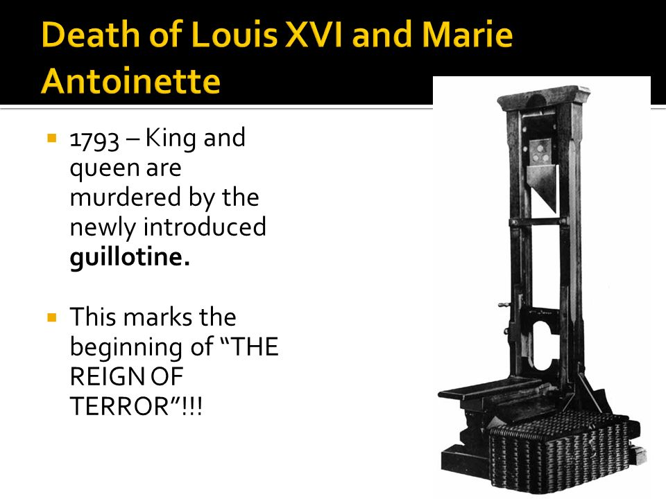 Death of Louis XVI and Marie Antoinette