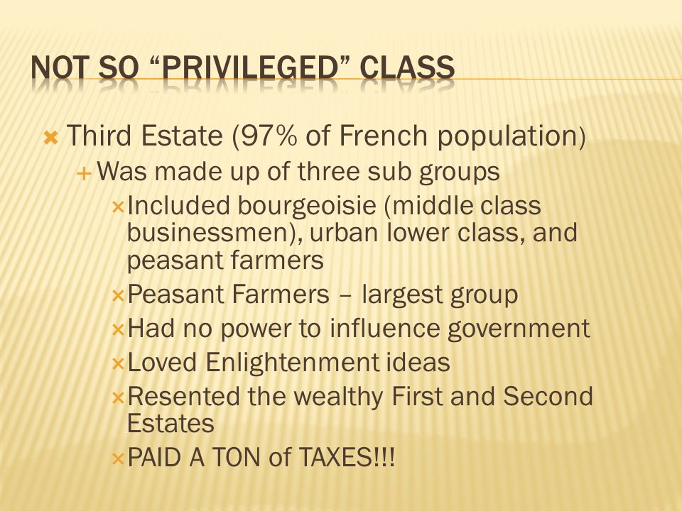 Not so Privileged Class
