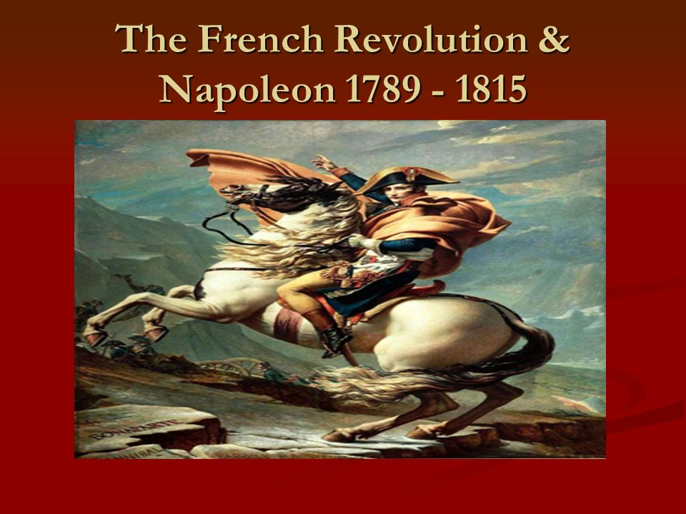 the french revolution 1780 1815 French revolution first phase  first counter-revolutionary assembly at jalès 30th january 1791:  black citizens of french colonies granted equal rights.