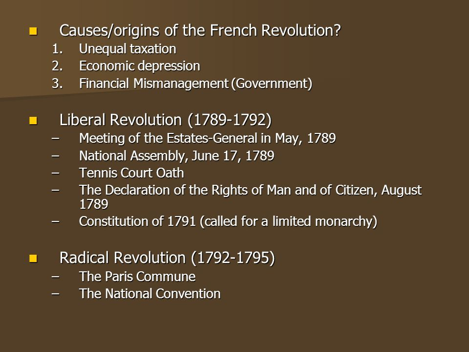 the origins of the french revolution The origins of political order: from prehuman times to the french revolution francis fukuyama the origins begins at the beginning with human evolution.